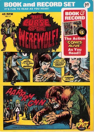 Cover for The Curse of the Werewolf! [Book and Record Set] (Peter Pan, 1974 series) #PR17