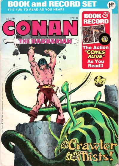 Cover for Conan the Barbarian: The Crawler in the Mists! [Book and Record Set] (Peter Pan, 1976 series) #PR-31