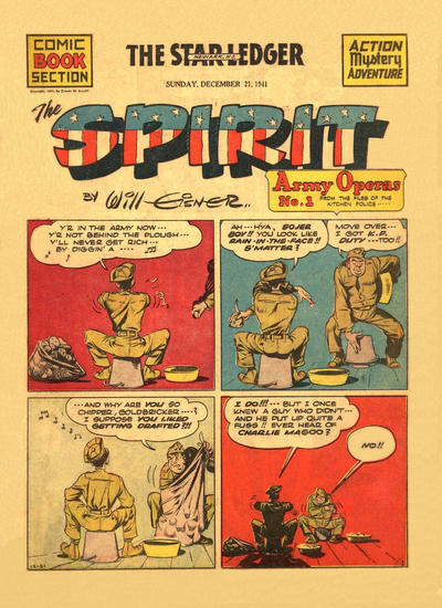 Cover for The Spirit (Register and Tribune Syndicate, 1940 series) #12/21/1941