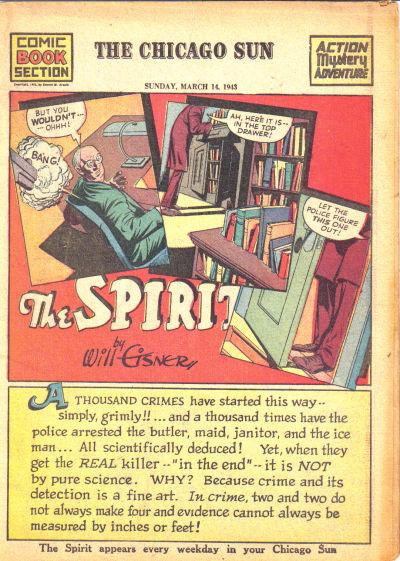 Cover for The Spirit (Register and Tribune Syndicate, 1940 series) #3/14/1943
