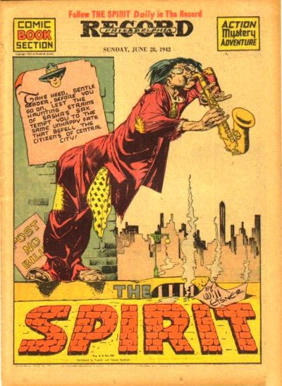 Cover for The Spirit (Register and Tribune Syndicate, 1940 series) #6/28/1942