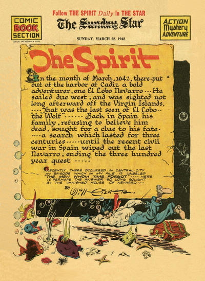 Cover for The Spirit (Register and Tribune Syndicate, 1940 series) #3/22/1942