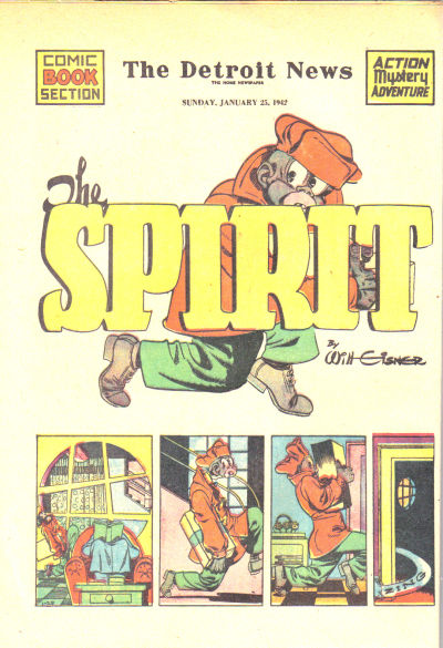 Cover for The Spirit (Register and Tribune Syndicate, 1940 series) #1/25/1942