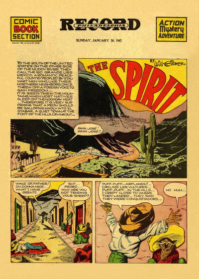 Cover for The Spirit (Register and Tribune Syndicate, 1940 series) #1/26/1941