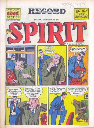 Cover for The Spirit (Register and Tribune Syndicate, 1940 series) #12/17/1944