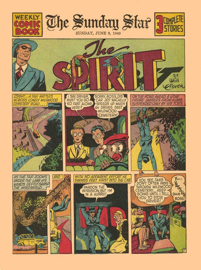Cover for The Spirit (Register and Tribune Syndicate, 1940 series) #6/9/1940