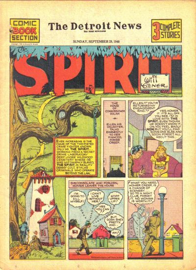 Cover for The Spirit (Register and Tribune Syndicate, 1940 series) #9/29/1940