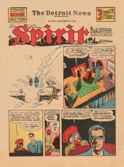 Cover for The Spirit (Register and Tribune Syndicate, 1940 series) #12/22/1940