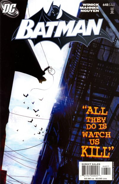 Cover for Batman (DC, 1940 series) #648 [Direct]