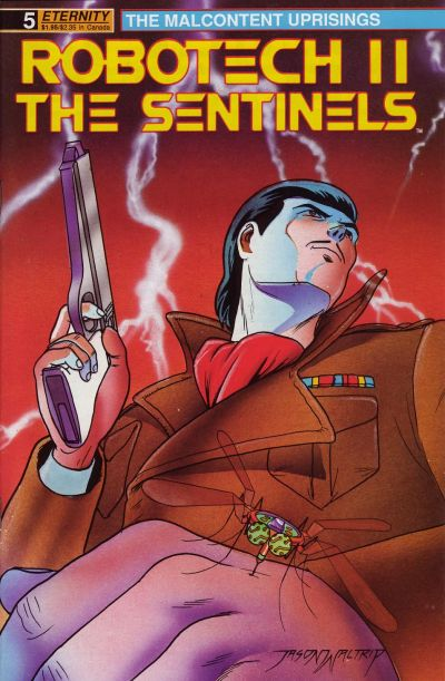 Cover for Robotech II: The Sentinels The Malcontent Uprisings (Malibu, 1989 series) #5