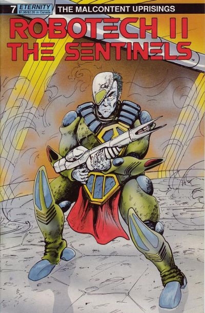 Cover for Robotech II: The Sentinels The Malcontent Uprisings (Malibu, 1989 series) #7