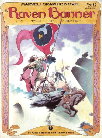 Cover for Marvel Graphic Novel (Marvel, 1982 series) #15 - Raven Banner: A Tale of Asgard
