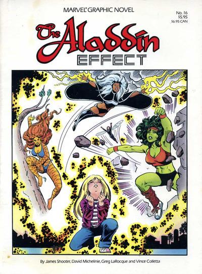Cover for Marvel Graphic Novel (Marvel, 1982 series) #16 - The Aladdin Effect