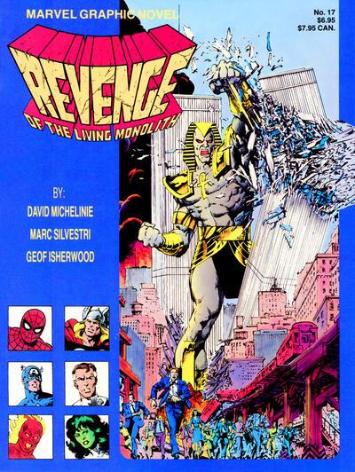 Cover for Marvel Graphic Novel (Marvel, 1982 series) #17 - Revenge of the Living Monolith