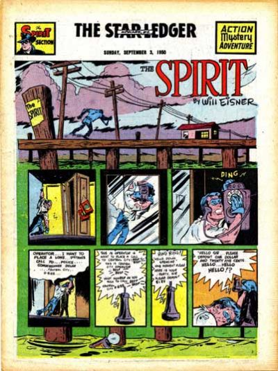 Cover for The Spirit (Register and Tribune Syndicate, 1940 series) #9/3/1950