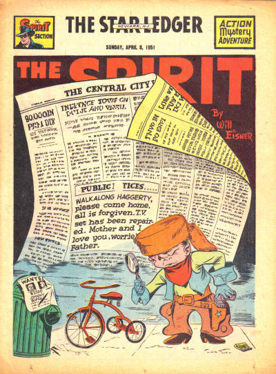 Cover for The Spirit (Register and Tribune Syndicate, 1940 series) #4/8/1951
