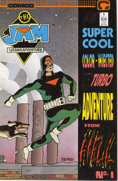 Cover for The Jam: Super Cool Color Injected Turbo Adventure #1 from Hell! (Comico, 1988 series) #1