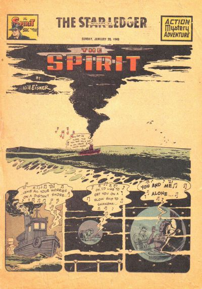 Cover for The Spirit (Register and Tribune Syndicate, 1940 series) #1/30/1949