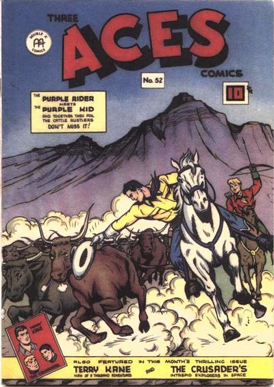 Cover for Three Aces Comics (Anglo-American Publishing Company Limited, 1941 series) #52