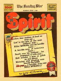 Cover Thumbnail for The Spirit (Register and Tribune Syndicate, 1940 series) #6/1/1941 [Washington DC Star edition]