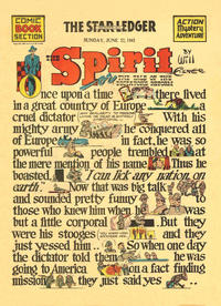 Cover Thumbnail for The Spirit (Register and Tribune Syndicate, 1940 series) #6/22/1941