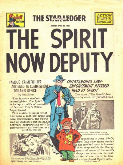 Cover for The Spirit (Register and Tribune Syndicate, 1940 series) #4/24/1949
