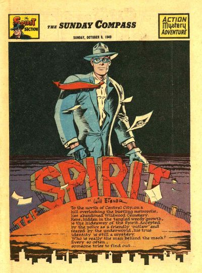 Cover for The Spirit (Register and Tribune Syndicate, 1940 series) #10/9/1949