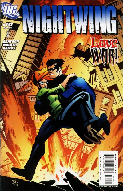 Cover for Nightwing (DC, 1996 series) #117 [Newsstand Edition]