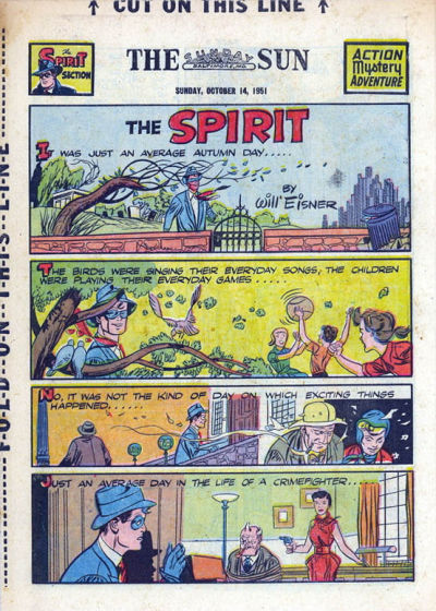 Cover for The Spirit (Register and Tribune Syndicate, 1940 series) #10/14/1951