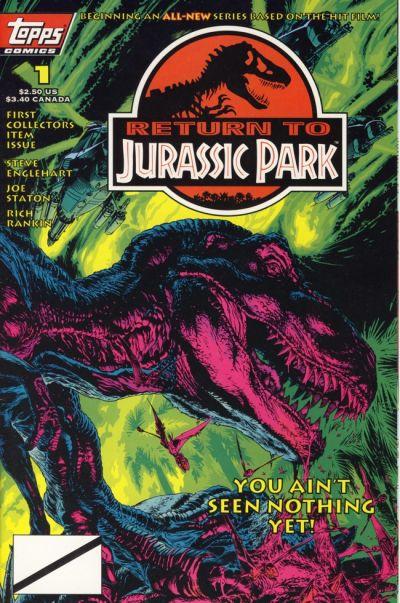 Cover for Return to Jurassic Park (Topps, 1995 series) #1