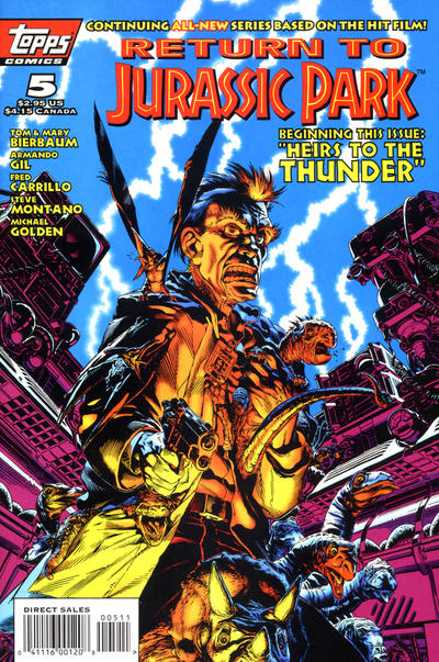 Cover for Return to Jurassic Park (Topps, 1995 series) #5