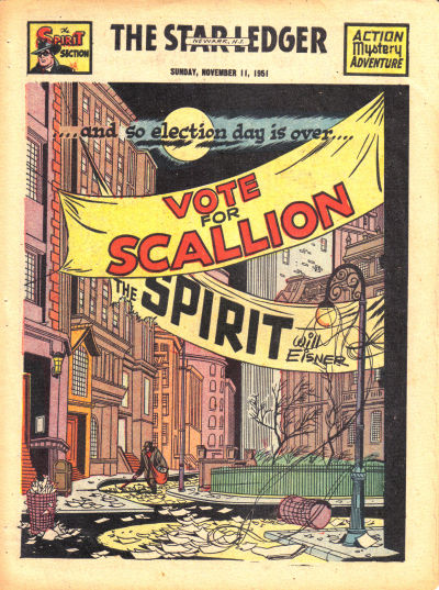 Cover for The Spirit (Register and Tribune Syndicate, 1940 series) #11/11/1951