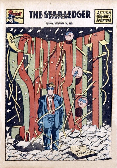 Cover for The Spirit (Register and Tribune Syndicate, 1940 series) #12/30/1951