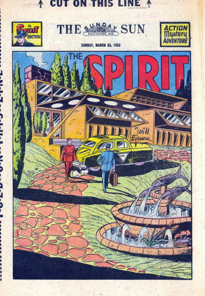 Cover for The Spirit (Register and Tribune Syndicate, 1940 series) #3/23/1952