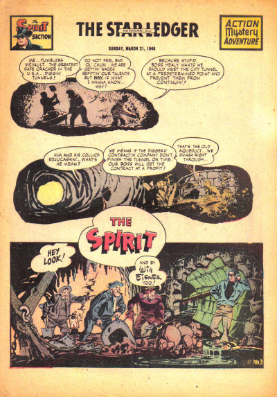 Cover for The Spirit (Register and Tribune Syndicate, 1940 series) #3/21/1948