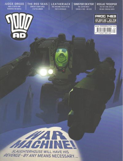 Cover for 2000 AD (Rebellion, 2001 series) #1463