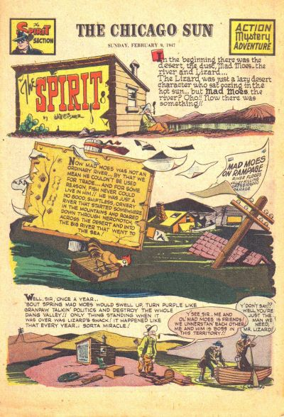 Cover for The Spirit (Register and Tribune Syndicate, 1940 series) #2/9/1947