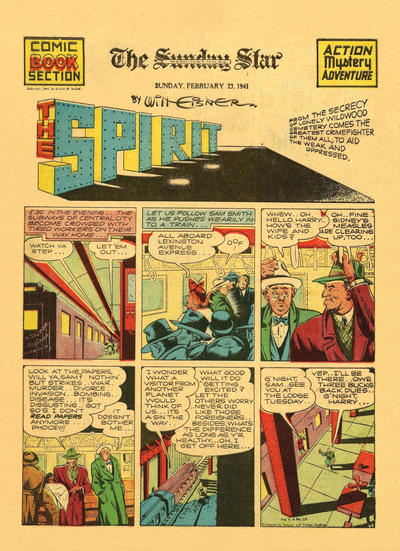 Cover for The Spirit (Register and Tribune Syndicate, 1940 series) #2/23/1941