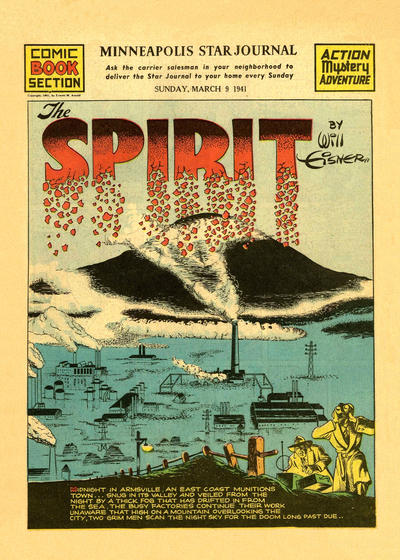 Cover for The Spirit (Register and Tribune Syndicate, 1940 series) #3/9/1941 [Minneapolis Star Journal edition]