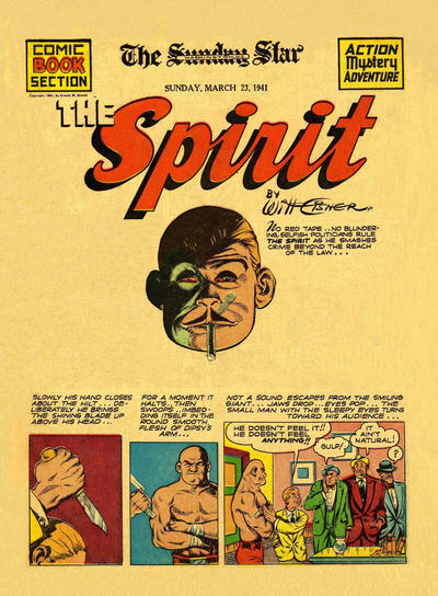 Cover for The Spirit (Register and Tribune Syndicate, 1940 series) #3/23/1941