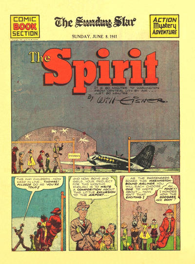 Cover for The Spirit (Register and Tribune Syndicate, 1940 series) #6/8/1941