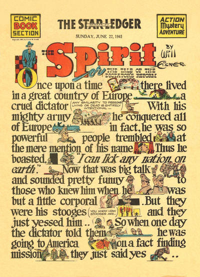 Cover for The Spirit (Register and Tribune Syndicate, 1940 series) #6/22/1941