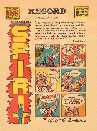 Cover for The Spirit (Register and Tribune Syndicate, 1940 series) #8/10/1941