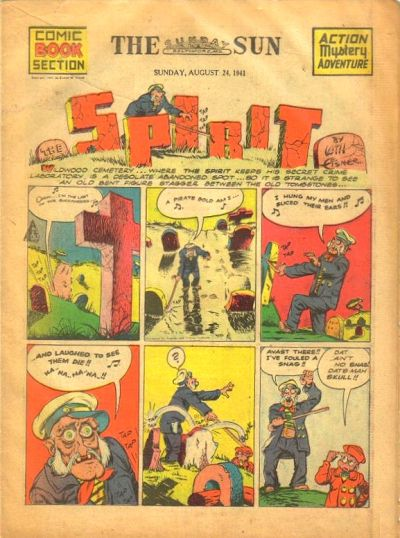 Cover for The Spirit (Register and Tribune Syndicate, 1940 series) #8/24/1941