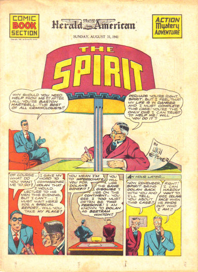 Cover for The Spirit (Register and Tribune Syndicate, 1940 series) #8/31/1941
