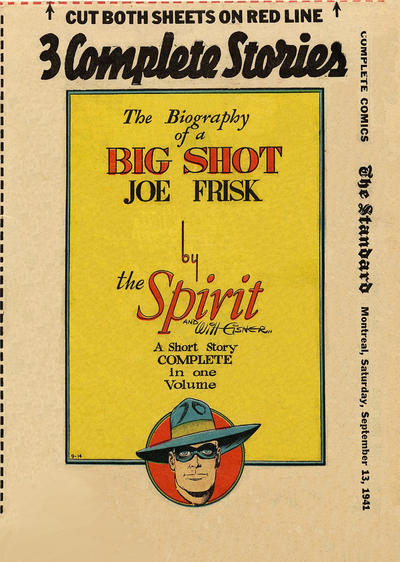 Cover for The Spirit (Register and Tribune Syndicate, 1940 series) #9/14/1941