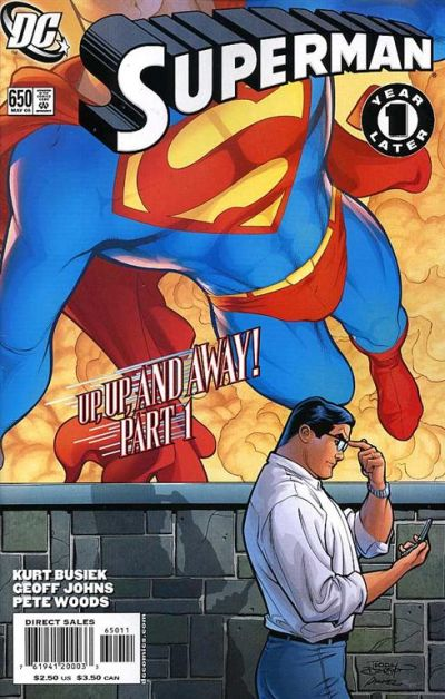 Cover for Superman (DC, 2006 series) #650