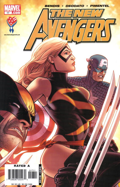 Cover for New Avengers (Marvel, 2005 series) #17 [Direct Edition]