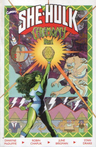 Cover for The Sensational She-Hulk In Ceremony (Marvel, 1989 series) #1