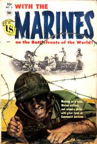Cover Thumbnail for With the Marines on the Battlefronts of the World (Toby, 1953 series) #2